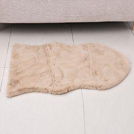 Super Auction- Luxuriously Soft Faux Fur Rug in Beige Colour (Size 60x100 Cm)