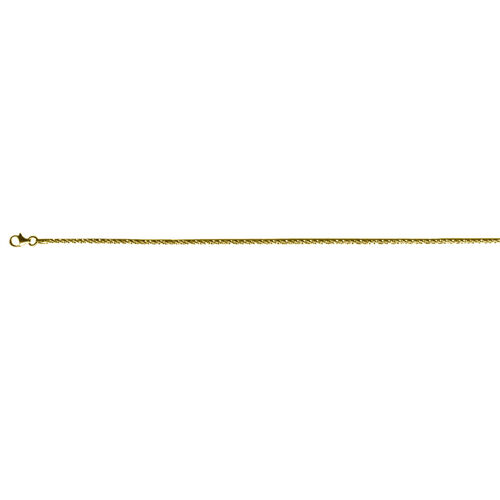 JCK Vegas Collection 14K Gold Overlay Sterling Silver Twisted Rock Chain (Size 20), Silver wt 4.66 Gms.