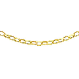Hatton Garden Close Out Deal 9K Yellow Gold Belcher Necklace (Size 20)