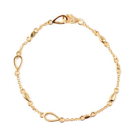 LucyQ - Drop Bracelet (Size 7.5) in Yellow Gold Overlay Sterling Silver
