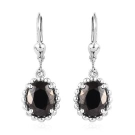 2.25 Ct Elite Shungite Solitaire Drop Earring in Platinum Plated Silver