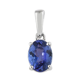 Limited Edition- Rhapsody 950 Platinum AAAA Tanzanite (Ovl) Solitaire Pendant 1.500 Ct