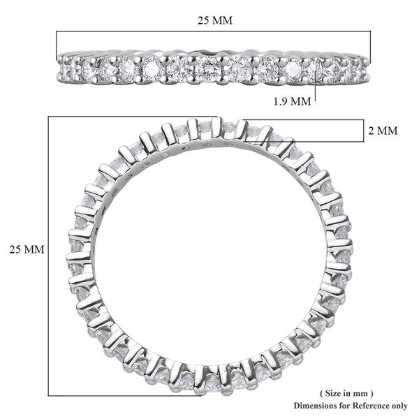 RHAPSODY 950 Platinum IGI Certified Diamond (VS/E-F) Full Eternity Band Ring 1.00 Ct, Platinum wt. 3.34 Gms