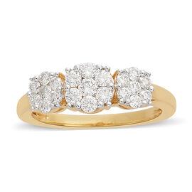 ILIANA 18K Yellow Gold IGI CERTIFIED Diamond (Rnd) Ring (SI/G-H) 0.750 Ct.
