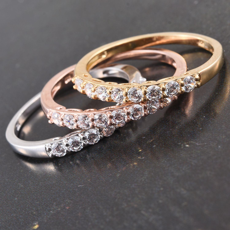 [Sponsored]TJC Set of 3 Platinum 14K Gold RG Over Silver Ring made with Swarovski® Zirconia 9kTV9dI9aK