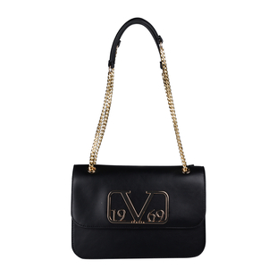 19V69 ITALIA by Alessandro Versace Shoulder Bag with Magnetic Closure (Size 24x15.5x6Cm) - Black