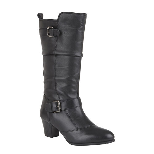 Lotus Miriam Leather Mid Calf Boots (Size 8)