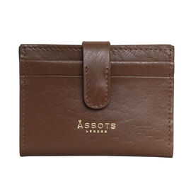 Assots London GROVE 100% Genuine Leather RFID Cardholder - Tan