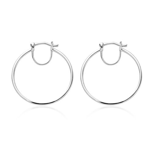 RHAPSODY 950 Platinum Hoop Earrings (with Clasp), Platinum Wt 3.64 Gms