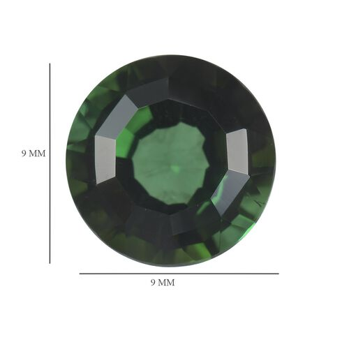 AA Green Tourmaline Round 9 Faceted 2.52 Cts