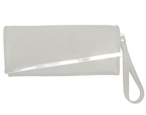 Gold Bar Peach Colour Long Wallet (Size 19x10 Cm)