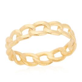 Italian Made - 9K Yellow Gold Grumette Ring
