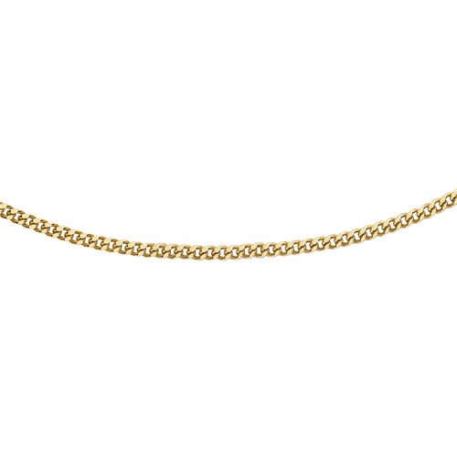 Hatton Garden Close Out - 9K Yellow Gold Curb Necklace (Size 18)