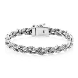 Royal Bali Collection - Sterling Silver Tulang Naga Kelabang Bracelet (Size 8), Silver wt 29.50 Gms
