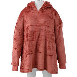 DOD - Flannel Sherpa Family Blanket Sweatshirt (Size 95x78.5 Cm)
