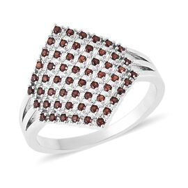 One Time Deal- Mozambique Garnet (Rnd) Cluster Ring
