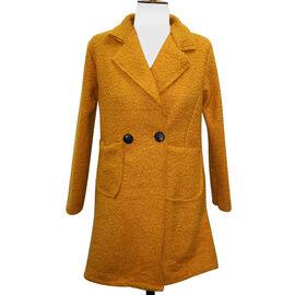 SUGAR CRISP Mustard 2 Button Collared Jacket One Size (10-18)