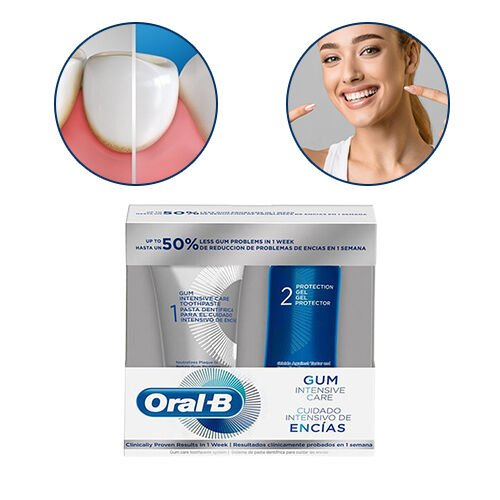 Oral B Gum Intensive Care Kit- 2 Piece (incl. Gum Intensive Care Toothpaste - 85ml & Protection Gel 63ml)