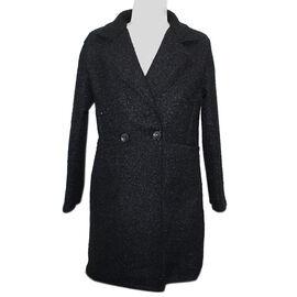 SUGAR CRISP Black 2 Button Collared Jacket One Size (10-18)