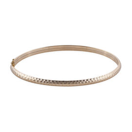 Royal Bali Collection 9K Yellow Gold Diamond Cut Bangle (Size 7.5) Gold Wt. 4.04 Grams