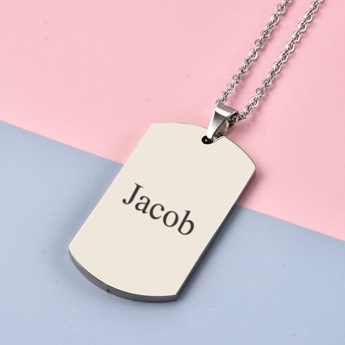 Personalise Engraveable Gents Dog tag in Stainless Steel