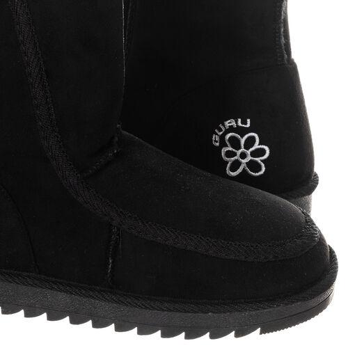 GURU Womens Winter Fluffy Ankle Boots (Size 8) - Black