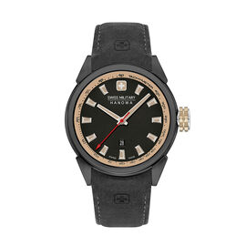 Swiss Military Hanowa Platoon Mens Watch with Black Dial and Black Strap