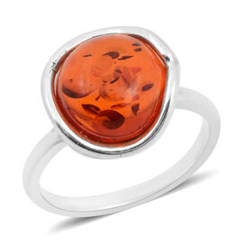 Baltic Amber Ring in Sterling Silver
