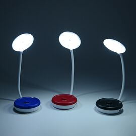 3 Piece Set Foldable Table Lamp (Size 11x5x49 Cm) Blue, Red and Black Colour