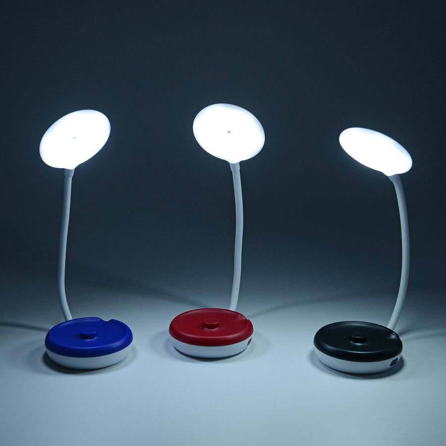 Set Of 3 Folding Table Lamps Black Red And Blue 3258831 Tjc