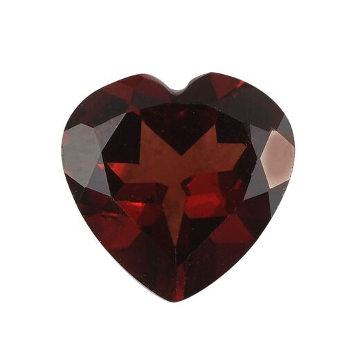 AAA Red Garnet Heart 11 Faceted 4.65 Cts