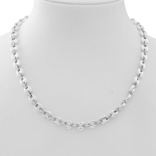 Vicenza Collection Designer Inspired Silver Anchor Link Necklace (Size 20 with 1 inch Extender), Silver wt 36.76 Gms.