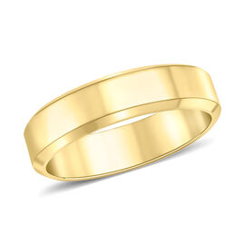 Bevelled Edge Band Ring in 9K Yellow Gold 3.70 Grams
