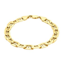 Hatton Garden Close Out 9K Yellow Gold Rambo Chain Bracelet (Size 8), Gold wt. 9.92 Gms
