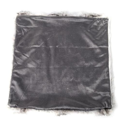 2 Piece Set - Faux Fur with Reverse Mink Cushion Covers (Size 45x45 Cm) White