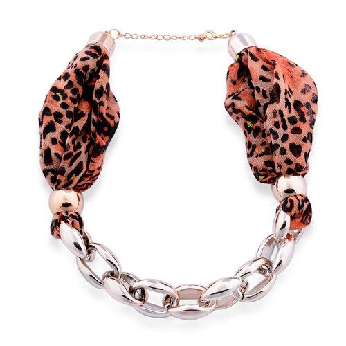 Leopard Print Scarf Necklace (Size 45 Cm)