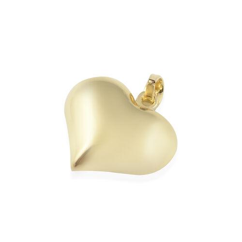 Vicenza Close Out 9K Yellow Gold Diamond Cut Heart Pendant