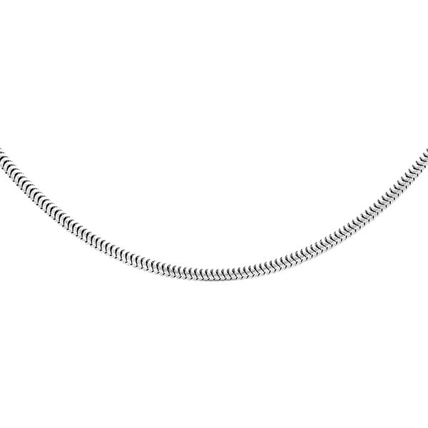 Sterling Silver Snake Chain (Size 18), Silver wt 4.60 Gms
