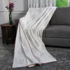 100% Cotton Reversible Hand Block Stylised Floral Printed Muslin Dohar Summer Blanket (Size 200x200c