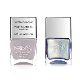 Nails Inc: Cornwall Gardens & Throwing Shapes - 14ml - Metallic Silver