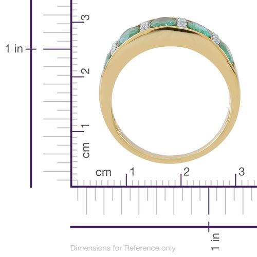 Kagem Zambian Emerald (2.00 Ct),White Zircon 9K Y Gold Ring  2.120  Ct.