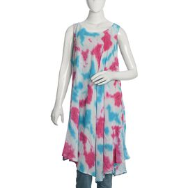 Pink and Blue Colour Umbrella Dress (Size 116x132 Cm)