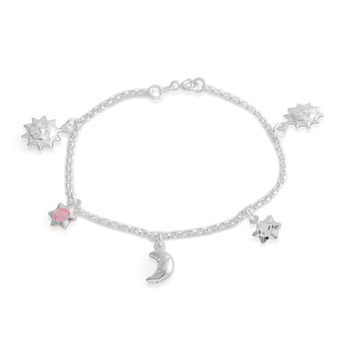 Austrian Crystal Quartz Bracelet (Size 7.5) with Charm in Sterling Silver