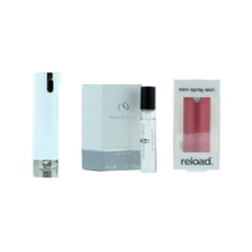 Reload Mini Perfume Spray White (Incl. Mercedes For Women - 5ml & Aluminium Red Skin)