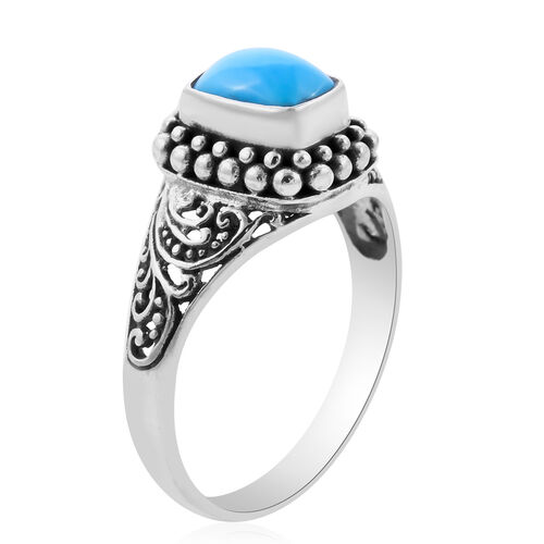 Royal Bali Collection - Arizona Sleeping Beauty Turquoise Ring in Sterling Silver 1.42 Ct.
