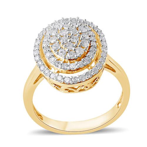 9K Yellow Gold SGL Certified Diamond (Rnd) (I3/G-H) Ring 1.00 Ct.