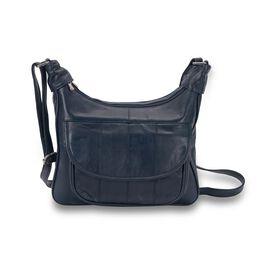 OTO -100% Genuine Leather Navy Blue Colour Shoulder Bag with Multi Pocket (Size 28.7x20.9x6 Cm)