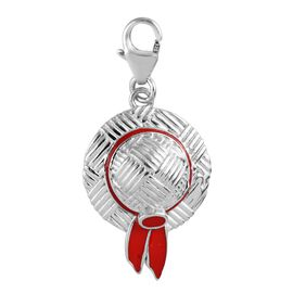 Platinum Overlay Sterling Silver Enamelled Hat Charm