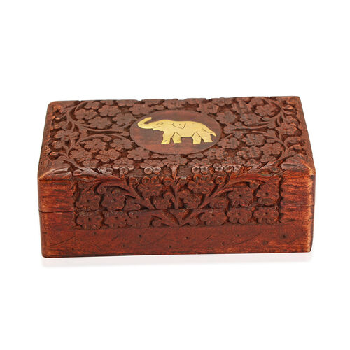 3 Piece Set- Handcrafted Nested Boxes In Mango Wood (Small Size 5.3x2.25x1.25 Cm), (Medium Size 6.7x3.5x2) and (Large 8x5x2.75 Cm)