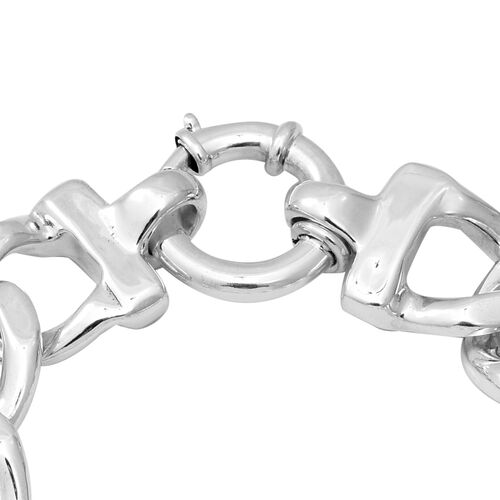 Sterling Silver Curb Link Bracelet (Size 8), Silver wt 20.00 Gms